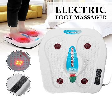 Electric Foot Massager Machine Vibration Massage Your while body and Helps in blood circulation and Remove your pain white color