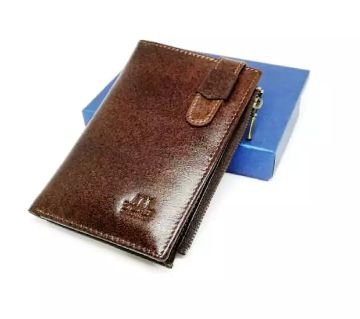 Long Mobile pars and card holder wallet full leather Chocolate color