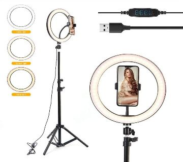 10 inch LED 8 FIT Tripod Stand Photography Selfie Ring Light