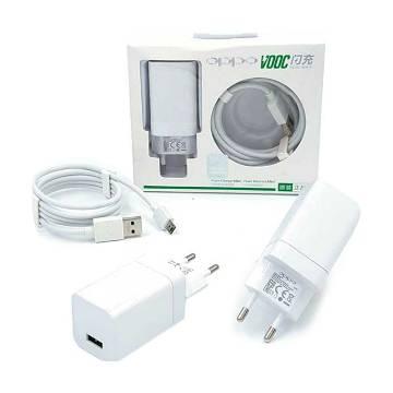 OPPO VOOC Super Fast Micro USB Cable & Adaptar - (White)
