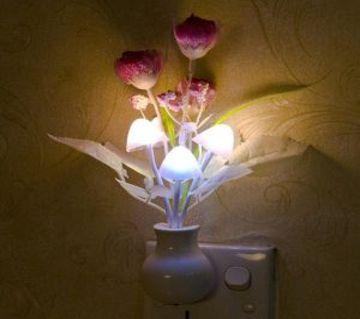 Night Light Romantic Colorful Sensor LED Mushroom Night Light