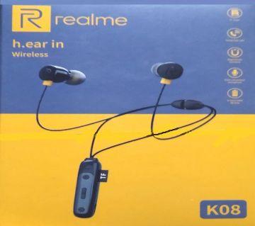 Realme K08 Wireless Earphone With Memory Card Slot-7ria