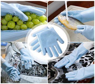 Silicon dishwashing hand gloves 1 pair