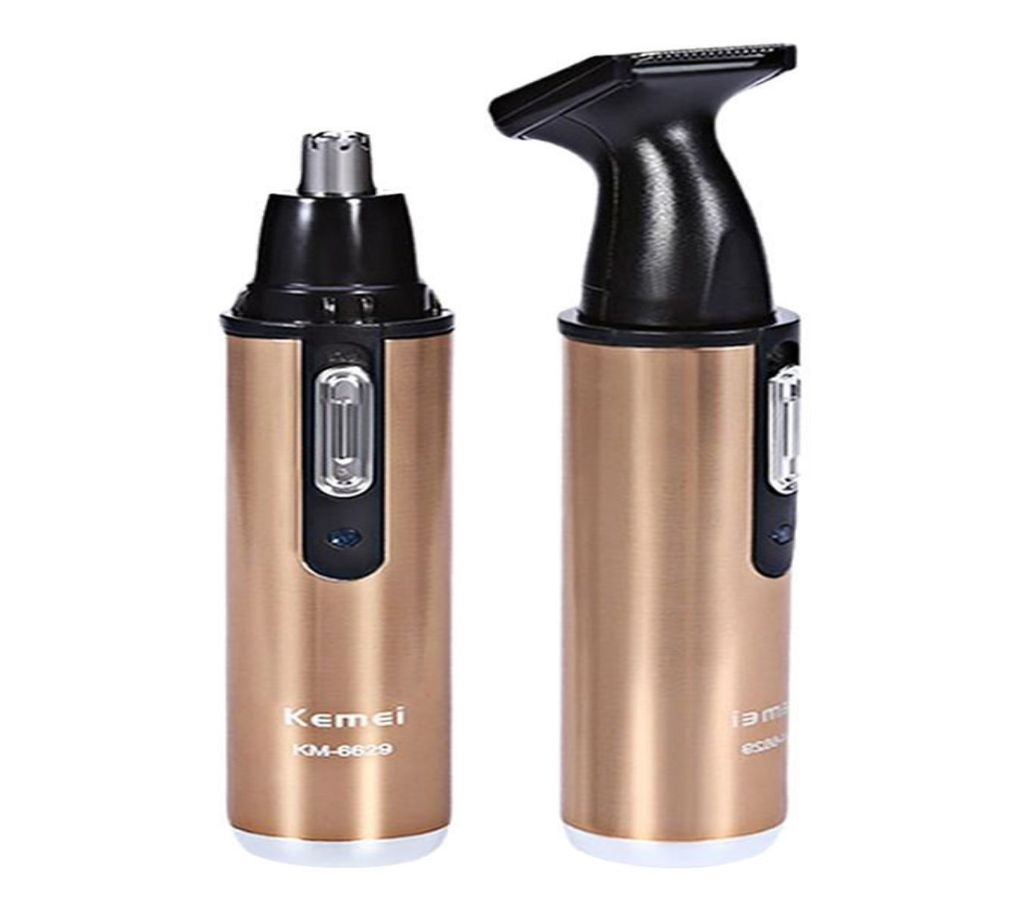Kemei KM-6629 2 In 1 Nose and Ear Hair Beard Trimmers বাংলাদেশ - 958087