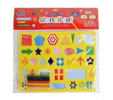 3 in 1 drawing set with Alphabets,Numbers and big stand.