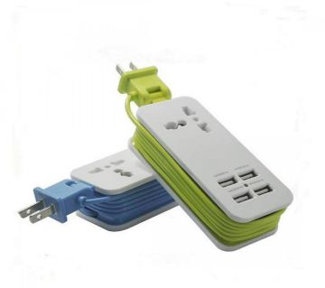 5 in 1 USB Charger Socket - 4 USB Universal