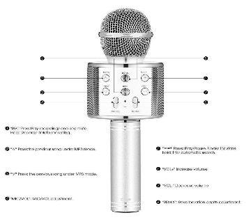 Q7 Microphone Speaker-Silver