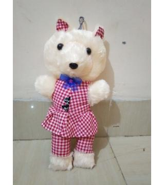 Eight inch Happy Birthday teddy bear red
