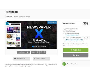 Newspaper v9.1 Nulled  WordPress News Theme Lifetime Licence