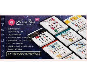 KuteShop - Fashion, Electronics & Marketplace Elementor WooCommerce Theme /lifetime licence (RTL Supported)