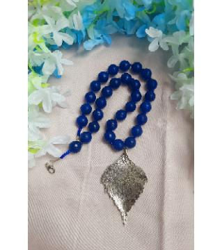 Blue Color Garnett Stone Necklace