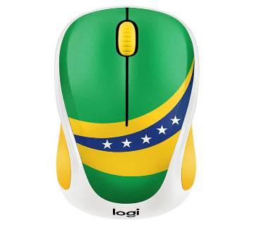 LOGITECH M238 WIRELESS MOUSE (BRAZIL FLAG)