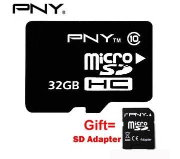 PNY 32GB Micro SD class-10 Memory card
