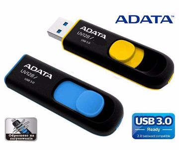 Adata 16Gb Usb 3 Uv128 Blue/Yellow Pendr
