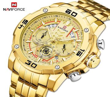 NAVIFORCE Sport Chronograph  Military Stainless Steel Men Watch - 9175GG