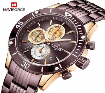 NAVIFORCE Luxury Mens Watches Military Chronograph Sport Wristwatch- 9173-CE