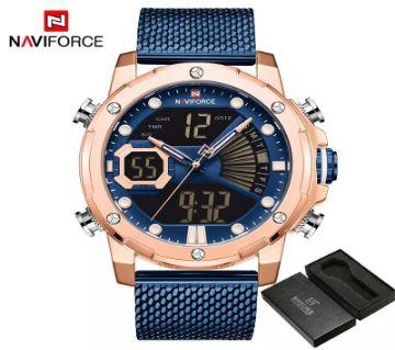 NAVIFORCE Luxury LED Digital Analog Sports Men Watch-9172S-BE