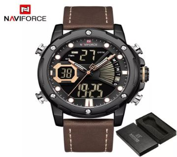 NAVIFORCE Luxury LED Digital Analog Sports Men Watch - 9172L-BYBN
