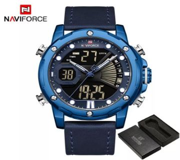 NAVIFORCE Luxury LED Digital Analog Sports Men Watch - 9172L-BE