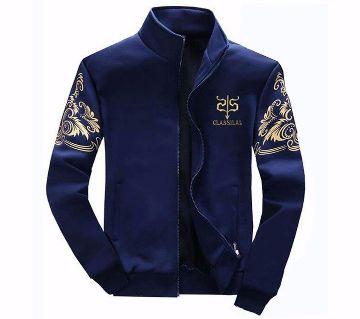 cotton winter navy blue jacket for men blue