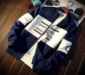 cotton winter jacket white blue