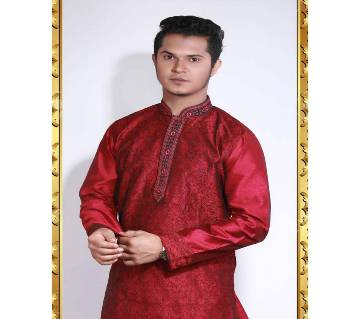 Indian Semi Long Gents Silk Panjabi
