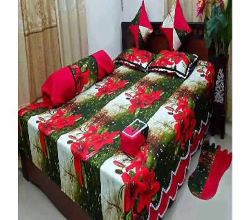 100% cotton 8 pcs  bed sheet . model : 345
