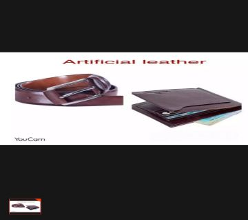 Artificical Leather Belt + Wallet For Men