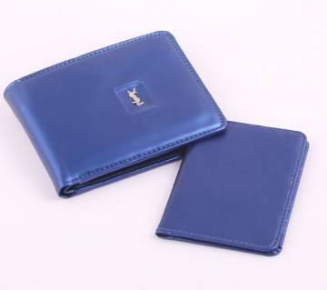 Sky Blue Artificial Leather Wallet For Men