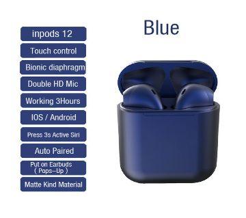 Inpods 12 TWS Wireless Earphone Headphones Bluetooth 5.0 (Dark Blue)
