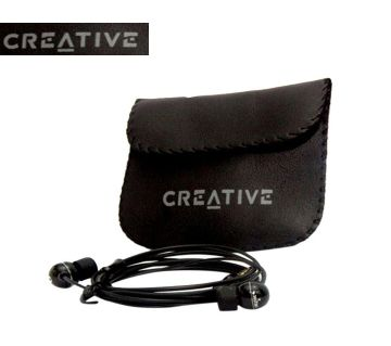 Creative Mobile Headphones in-Line Microphone Compatble with All Smartphones(Black) Copy