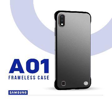 Samsung Galaxy A01/M01 Frameless Matte Transparent Back Cover