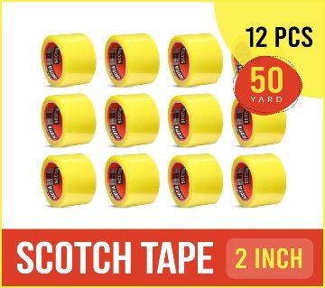 Scotch Tape - 50 Yards (Transparent) 12 Pcs