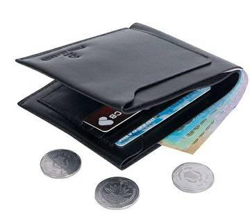 Gents regular shaped PU leather wallet