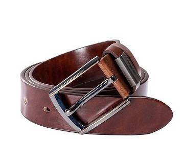Chocolate colour artificial leather belt for men