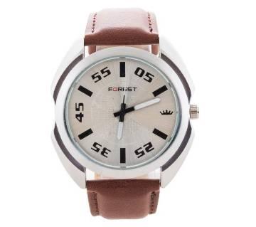 Forest Brown belt watch for men