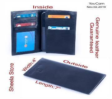 Genuine leather long wallet for men