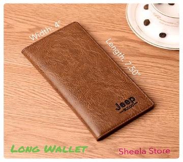 Jeep Brown colour long wallet for men