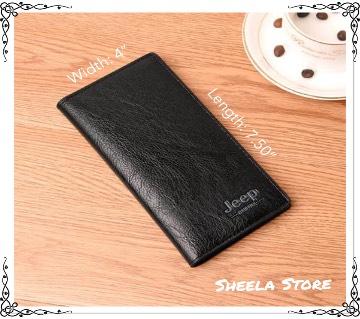 Jeep Black colour Long wallet for men