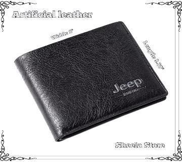 Jeep Black wallet for men