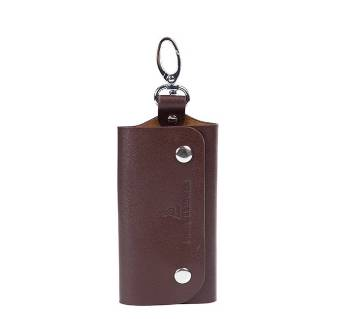 Chocolate Color Leather Key Pouch