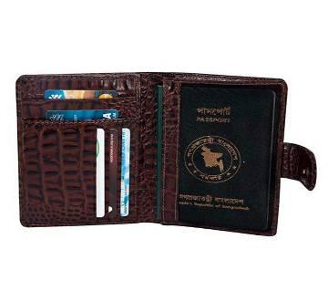 Crocodile Leather Passport Cover Holder