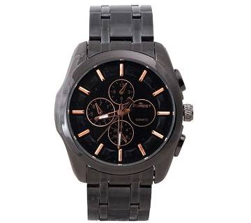Forest black wrist watch for men
