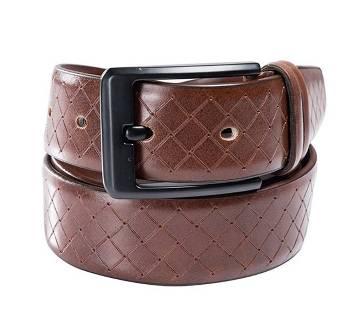 Brown buckle belt for men