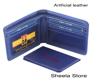 Blue YSL wallet for men