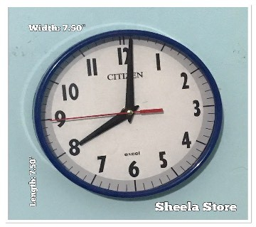 White Dial wall clock: 65333