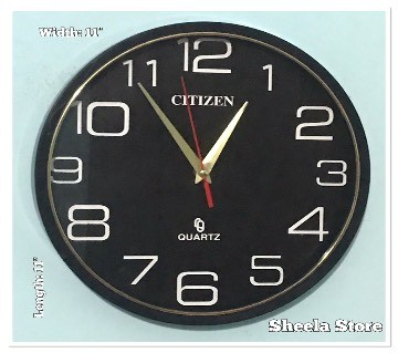 Black Dial Wall clock: 75334