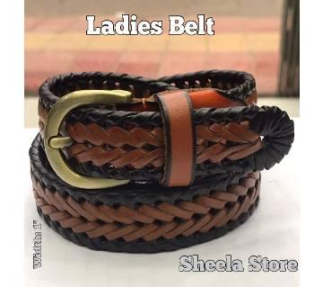 Brown ladies belt