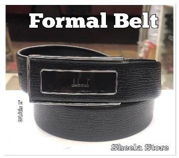 Black formal belt for men