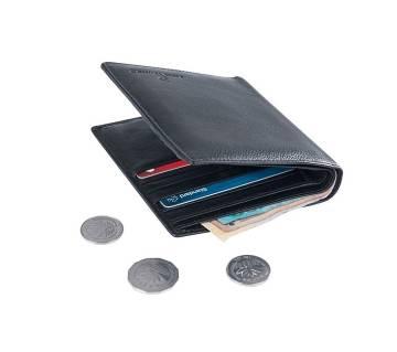 Genuine Leather Black Wallet For Men